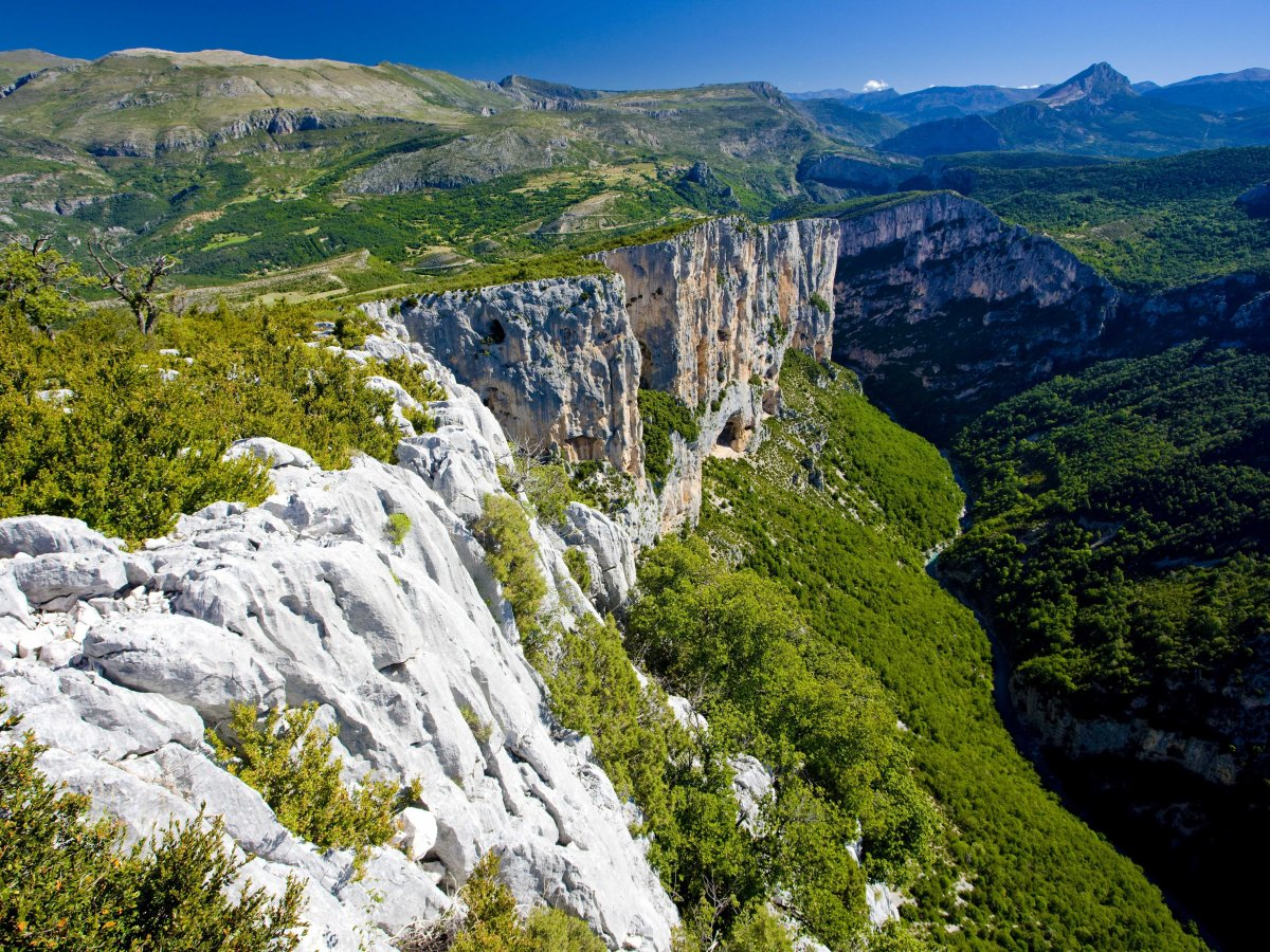 Hike through the Verdon Gorge, the Grand Canyon of France.