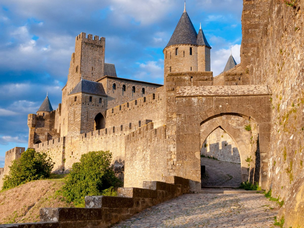 Stroll along the ramparts of the medieval city of Carcassonne.