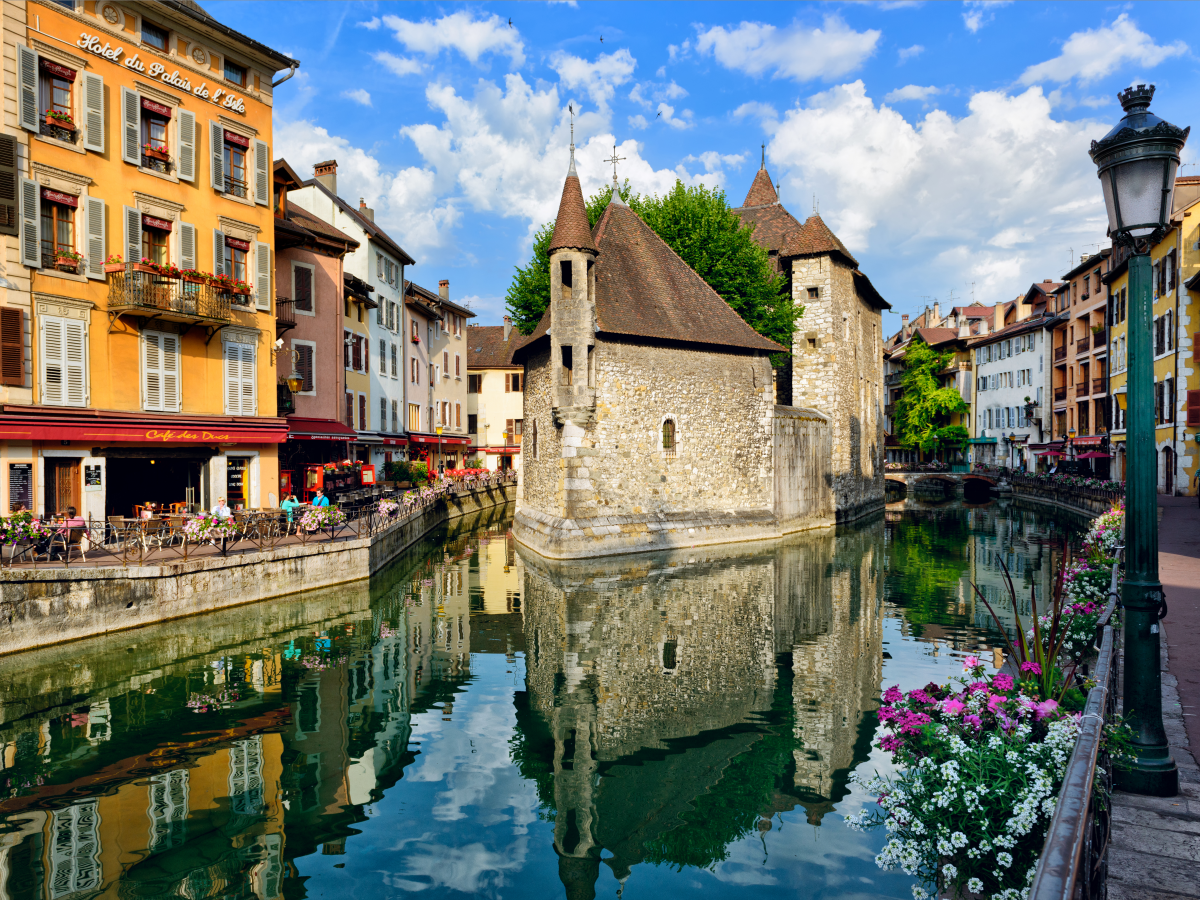 Stroll through Annecy, one of the prettiest towns in the Alps.