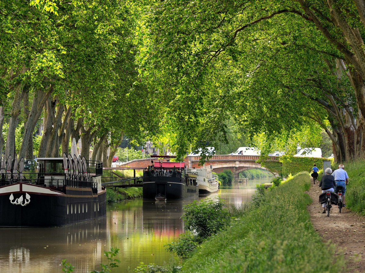 Take a boat along the Canal du Midi, a UNESCO World Heritage Site that runs from Toulouse to the Mediterranean.